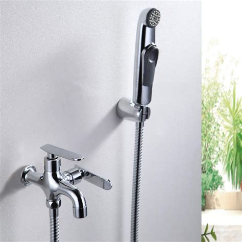 bathroom water sprayer wc bidet faucet chrome wall mount handheld portable water