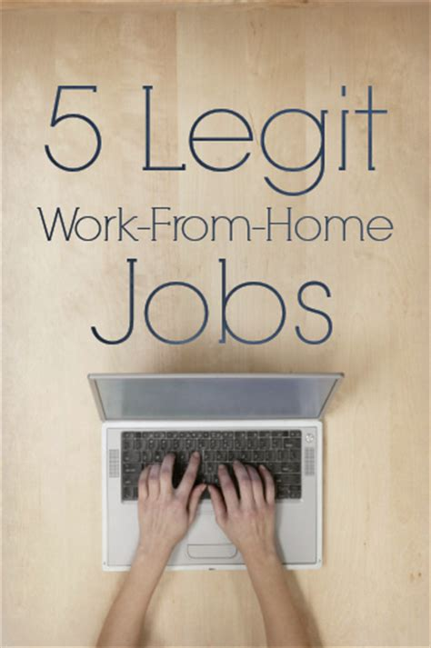 5 legitimate work from home opportunities 2017