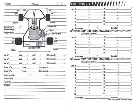 race car setup sheet template longacre setup sheets related keywords longacre setup