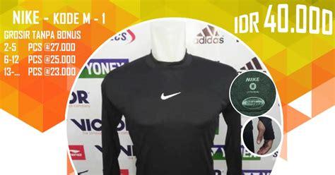 Baju Daleman Bola kaos baju pakaian baselayer manset thumbhole tumbhole daleman futsal nike hitam m1 baju