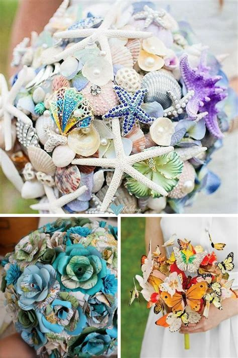 Wedding Bouquet Ideas For by Bridal Bouquets Without Flowers For Non Traditional Brides