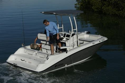 yamaha center console boats yamaha introduces jet powered fish boat in miami