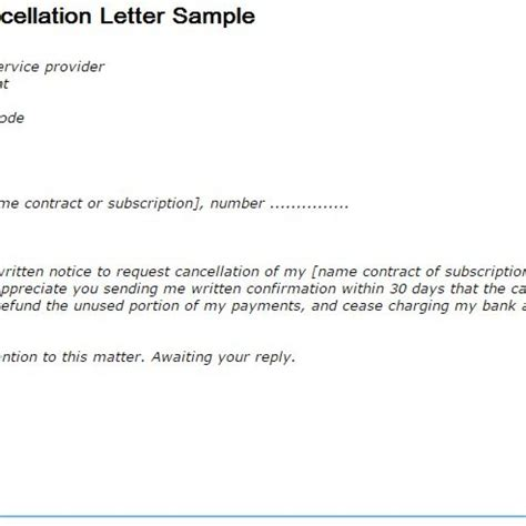 letter format of cancellation goodly membership cancellation letter letter format