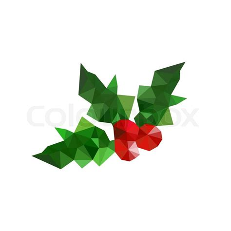 Origami Mistletoe - illustration of origami leaves stock