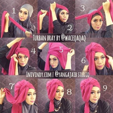 tutorial hijab pashmina menjadi turban pinterest the world s catalog of ideas