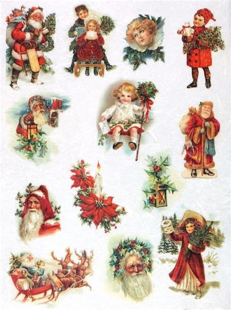 printable christmas decoupage paper rice paper for decoupage decopatch scrapbook craft sheet