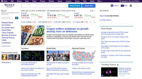 email yahoo finance the best websites on the internet