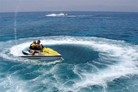 water scooter in pattaya watersports package with underwater scooter riding banana