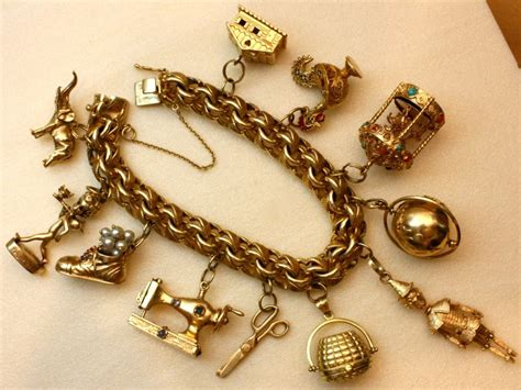 Wonderfully Rare Vintage Charm Bracelet At 1stdibs Charm Bracelet Images
