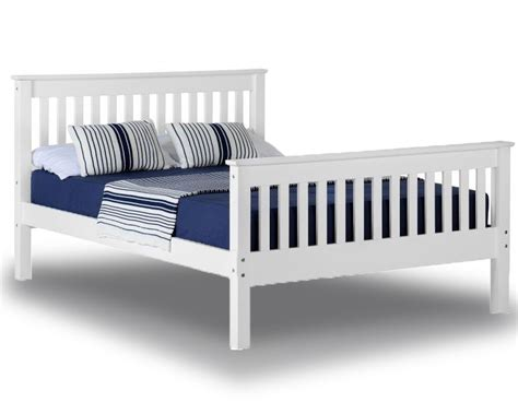 Bed Frames Direct Monty White High Foot Kingsize Bed Frame Kingsize Bed Frames Bed Frames