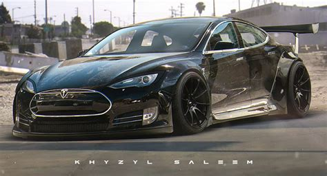 Tesla Model S Tuned What If The Tesla Model S Was Tuned By Liberty Walk