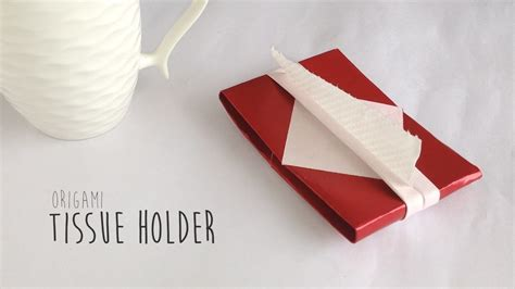 Origami Paper Holder - how to fold origami tissue holder