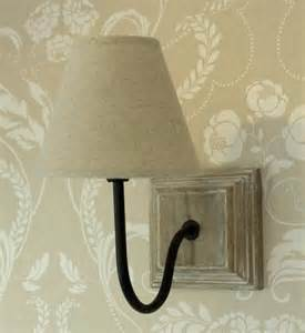 cream wall l light shabby vintage cottage chic linen shade bedside lighting ebay