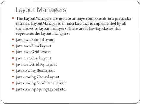 default layout manager for dialog class in java basic java programming