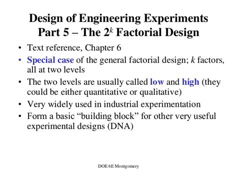 design of experiments montgomery free download design of experiments