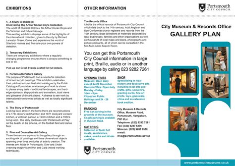 leaflet design portsmouth design of portsmouth city museum floor plan and leaflet