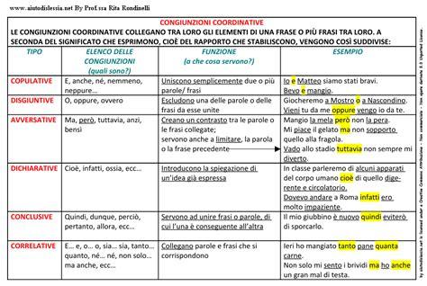 diversi analisi grammaticale congiunzioni coordinanti grammatica