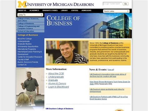 Of Michigan Mba Gpa Requirements by Of Michigan Dearborn School Of Management