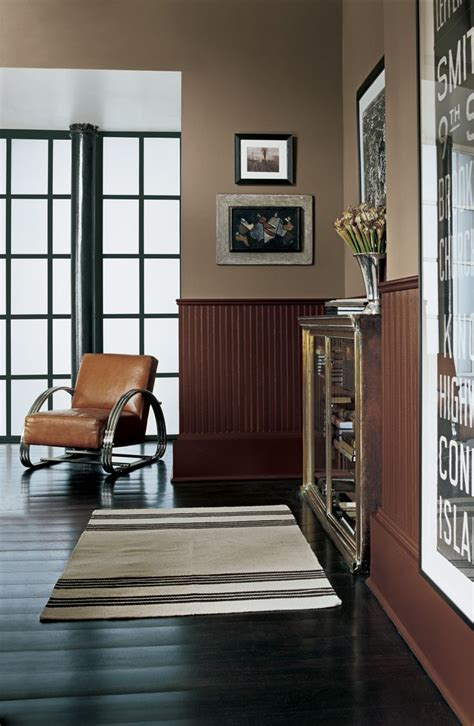 Brown Wainscoting by Create A Two Tone Look In Ralph Paint Style Harrow