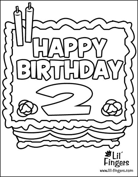 birthday coloring pages pinterest birthday coloring pages for 2nd birthday google search
