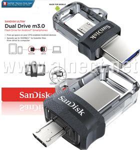 Sandisk Ultra Dual Drive M3 0 16gb Usb 3 0 Otg Flash Drive jual usb flashdisk sandisk ultra dual drive m3 0 16gb sandisk alnect komputer web store