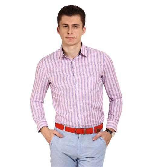 T Shirt Brookyln Bank Diskon blues pink stripes shirt buy blues