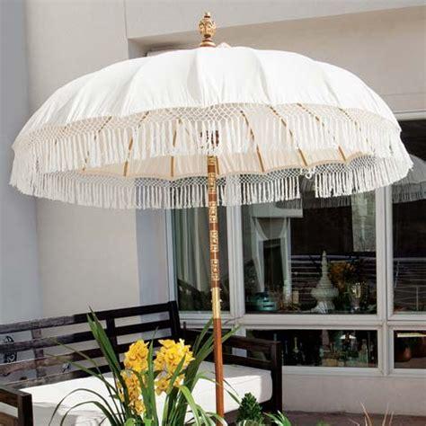 asha fringed patio umbrella for the home olive cocoa