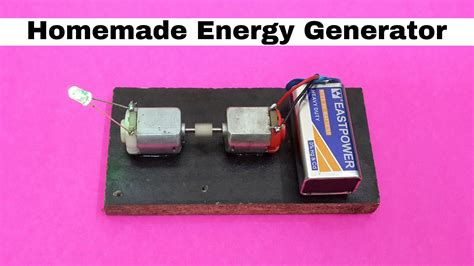 how to make mini energy generator using dc motors