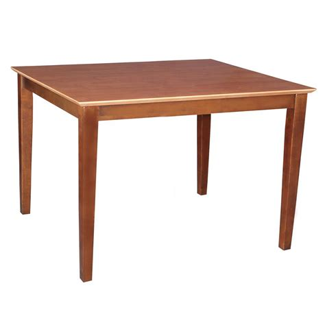 International Concepts Dining Table International Concepts Cinnamon And Espresso Skirted Dining Table K58 3048 30s The Home Depot