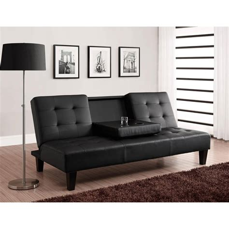 Mainstays Futon by Mainstays Black Metal Arm Futon With Size Mattress