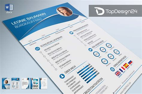 Bewerbung Anschreiben Layout Bewerbung Layout Topdesign24 Bewerbungsvorlagen