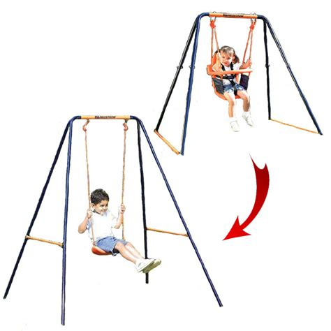 hedstrom swing and slide set hedstrom deluxe 2 in 1 swing all round fun