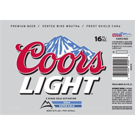 content of coors light johny fit