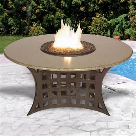 firepit patio table lacosta outdoor chat height patio firepit table 401c