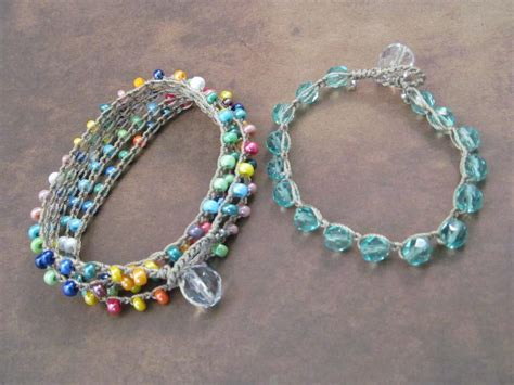 how to make crochet jewelry with crochet jewelry bracelet wrap tutorial by glowcreek craftsy