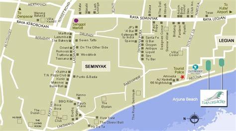seaside restaurant gymnasium   villas location map