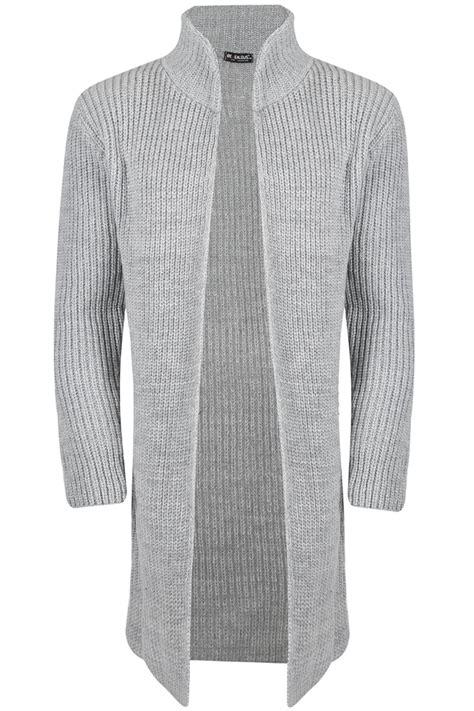 Cardigan Longs List Rib mens open front sleeve shawl rib knitted knitwear