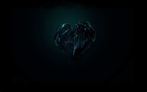 wallpaper dark heart black heart desktop background hd 2560x1440 deskbg com