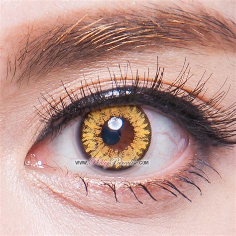 gold colored contacts princess twilight brown circle lenses colored