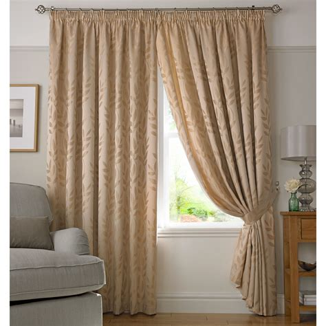 washable curtains jacquard leaves faux silk pencil pleat curtains fully