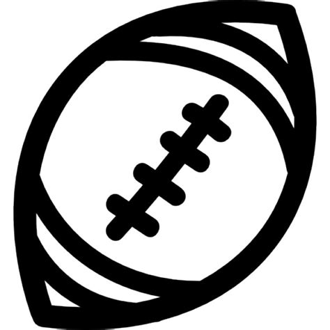 football ball silhouette vector american football ball hand drawn outline icons free