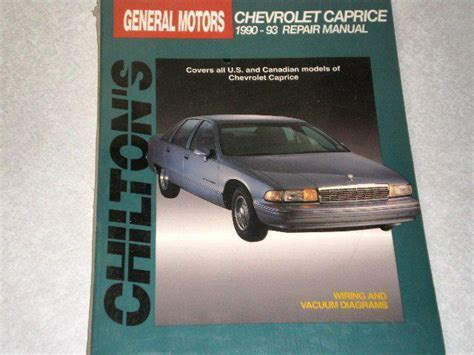 service and repair manuals 1993 chevrolet caprice classic navigation system buy 1990 1991 1992 1993 chevrolet caprice chilton repair manual new in factory wrap motorcycle