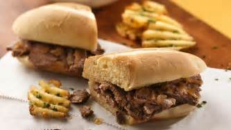 slow cooker easy french dip sandwiches recipe tablespooncom
