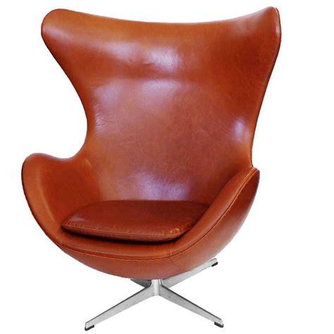 Egg Chair And Ottoman Egg Chair And Ottoman By Arne Jacobsen In Chestnut Brown At 1stdibs