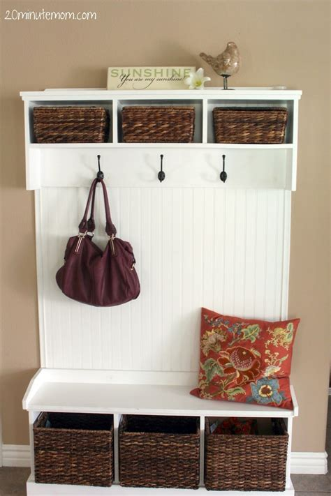 coat hanger with storage bench entryway storage bench with coat rack image for