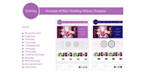 25 Best Responsive Html5 Wedding Templates Designssave Com Html5 Personal Website Template