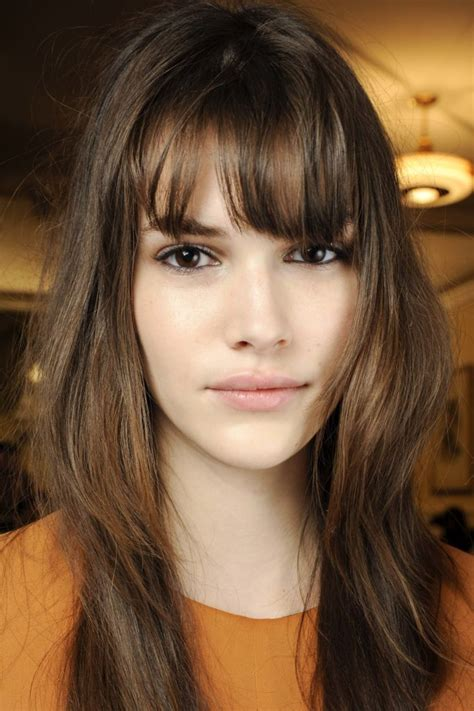bangs for skinny long face hairstyles for long thin hair that are trending for 2016
