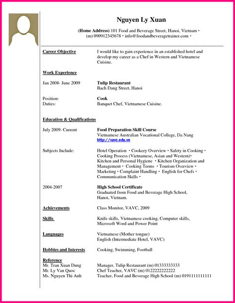 Resume Cv Work Experience 9 How To Write Work Experience In Cv Exle
