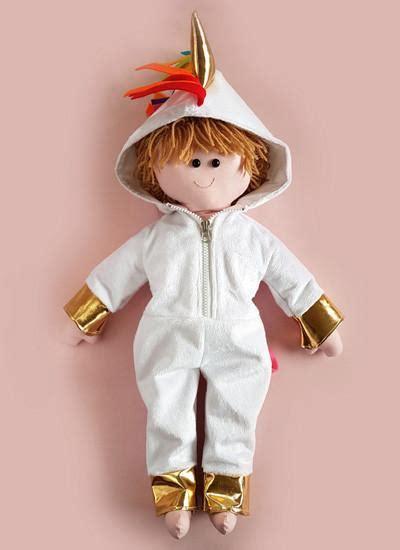 unicorn pattern onesie sew a rag doll in a unicorn onesie costume pattern dolly