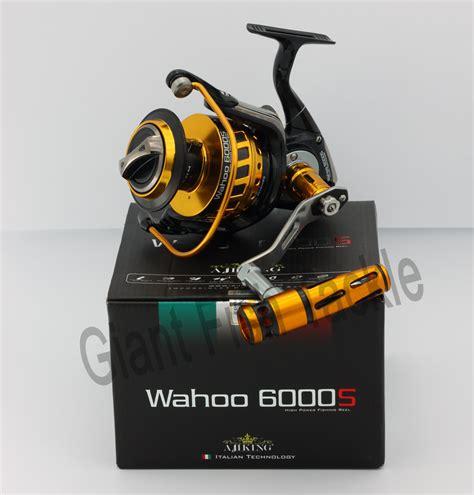 Reel Pancing Ajiking Wahoo ajiking spinning reel wahoo 6000s